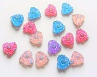 Set of 15 heart embellishments
