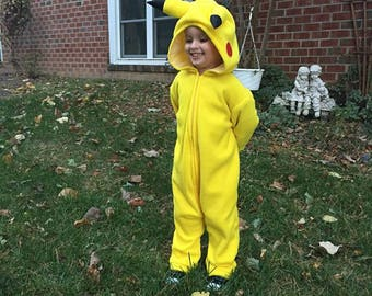 Child's Pikachu inspired costume, size 5 ORDER before OCTOBER 1st to guarantee delivery by Halloween