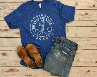Back to school sale! Robinson Rockets Adult tee