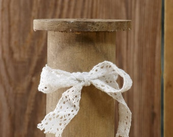 3 Rustic Vintage Spools, Wooden Spool Set
