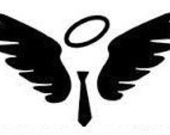 Castiel Wings and Tie Downloadable Cross Stitch Pattern PDF