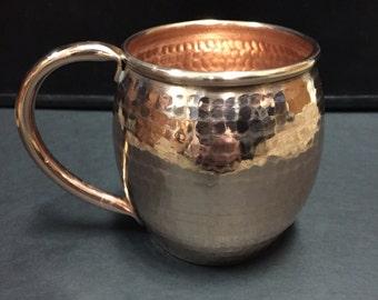 14oz Moscow Mule Hammered Copper Barrel Mug