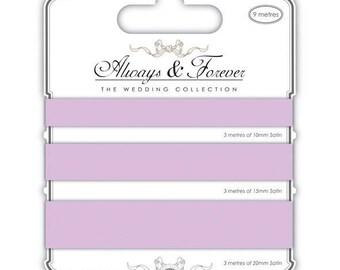(3x3m) - lilac 10,15,20mm-AFSRBN004 satin ribbons