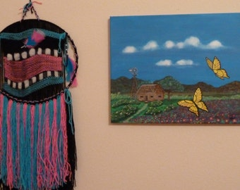 """Painting, Art, Original Painting, Wall Hanging, Southwestern Landscape, Painting on Canvas titled """"Mi Ranchito Alegre"""""""