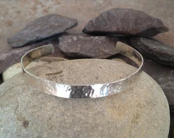 Sterling Silver Hammered Bracelet Hammered Bangle Hammered Cuff UK Shop   Birthday Gift  Mothers Day Gift