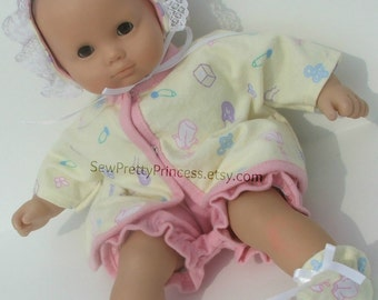 4 piece layette set fits Bitty Baby and other 15 inch dolls