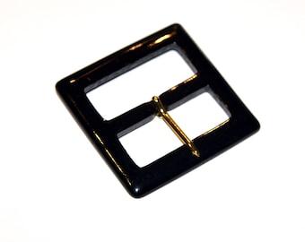 Belt buckle vintage new 55 mm acrylic