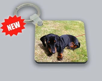 Personalised Photo Square Double Sided Keyring