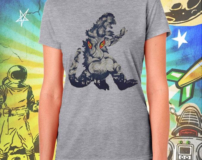 Godzilla / Hedora Poster / Women's Gray Performance T-Shirt