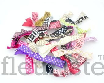 Grab Bag Printed Hair Ties, FOE Hair Ties, Yoga Hair Ties, Trendy FOE Hair Ties, Knotted Hair Ties, Preppy Hair Ties, No Crease Hair Ties