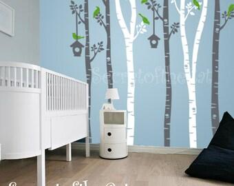 Wall Decals Nursery - Nursery wall Decal - Tree Decal - Birch Trees decal - Birch trees - Wall Decal - Tree