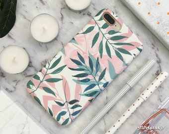 Leaf Leaves iPhone Case iPhone X Case iPhone 8 Case iPhone 8 Plus Case iPhone 7 Case iPhone 7 Plus Case iPhone 6S Case 6S Plus Matte Floral