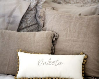 Name Pillow - Keepsake Pillow - Gender Neutral Baby Shower Gift Ideas - Personalized Baby Gifts Ideas - New Baby Gift - Nursery Decor Ideas
