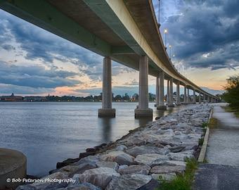 Under the Naval Academy Bridge at Sunset