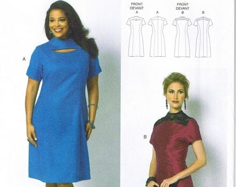 Easy Womens Princess Seam Dress Connie Crawford Butterick 5827 Sewing Pattern Size XS S M L XL 3 4 6 8 10 12 14 16