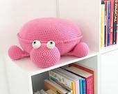 Crochet Ella the Turtle Pouf Pattern - PDF Instant Download
