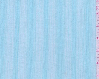 Seafoam Blue Stripe Cotton Gauze, Fabric By The Yard