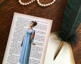 Jane Austen Art Postcards - Austen Heroines - Elizabeth Bennett - Pride and Prejudice