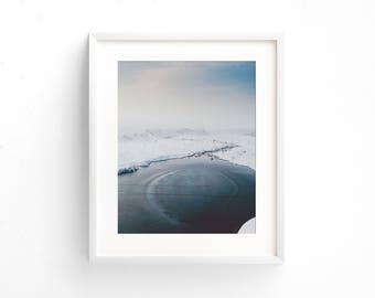 "landscape photography, large landscape wall art, minimalist landscape, large art prints, large wall art, large art, prints - ""Frozen Waters"""