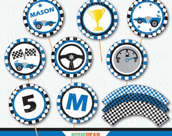 Race Car Cupcake Toppers Race Car Party Race Car Birthday