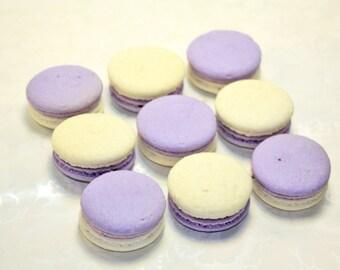 Lavender, French Macaron, girl party theme - 2 dozen