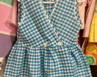 60s Gingham Dress 3/4T