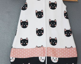 Sleeping bag infant fleece pattern cats