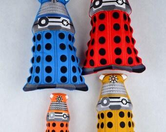 Dalek stuffie stuffy FOUR SIZES ITH machine embroidery design