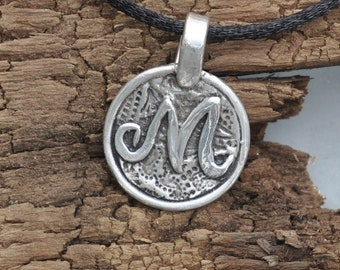Fine Silver Initial Pendant Necklace- Graduation- Confirmation-Birthday-Teenager-Mother's Day-Teacher