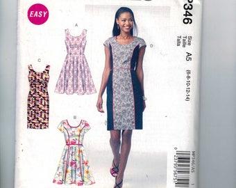 Misses Sewing Pattern McCalls MP346 Misses Easy Princess Seam Slimming Dress Full Slim Skirt  Size 6 8 10 12 14 Bust 30 31 32 33 34 36 UNCUT