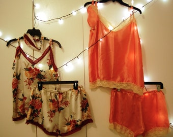 Silk and Lace sleep set
