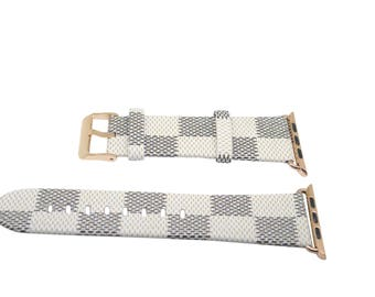Leather Apple Watch band, 42mm, 38mm, Leather watch band, Apple watch strap, iwatch band Apple watch leather band, white iwatch strap