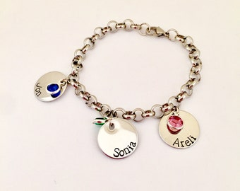 Personalized Name silver stainless steel chain name Bracelet