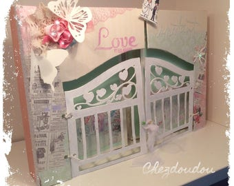"Great for wedding or golden anniversary romantic photo album ""love moment"""