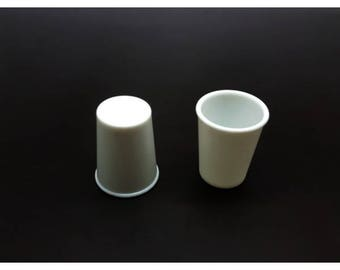 2 cups Miniatures 2x2.5cm for polymer clay creations