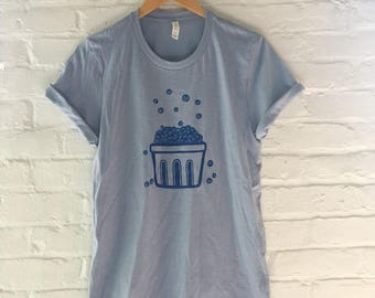 Blueberry Shirt, Food Shirt, Gardening Gift, Screen Print Shirt, Clothing Gift, Foodie Gift, Soft Style Tee