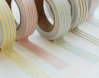 Sweet Mix Stripe Adhesive Fabric Tape (0.6in)