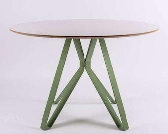 Dining Table ALAMIN - big round / circle table - steel legs - modern design