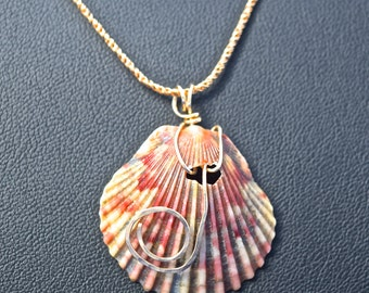 Gold Scallop Pendant From Florida