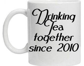 Drinking Tea Together Mug - Love Coffee Mug - Couple Coffee Mug - Love Story Mug  - Tea Mug - Girlfriend Mug - Boyfriend Mug