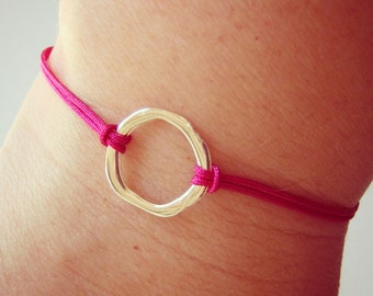 Irregular KARMA bracelet. Gift for Yoga Friends, Bridesmaid, Party favors, Friendship bracelet. Cord bracelet: Choose your color!