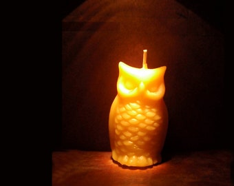 beeswax owl candles / set of 2- pure beeswax - woodland decor/ gift