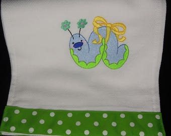 Embroidered Baby Girl Burp Cloth
