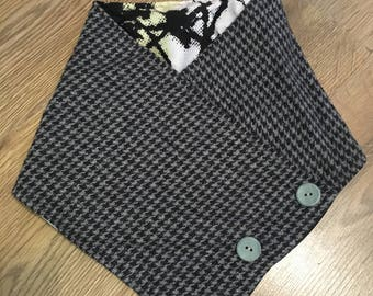 Lovely handmade button up pure wool neck wraps