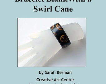 Polymer Clay Tutorial - How to cover a Cuff Bracelet Blank With a Swirl Cane, Tuto, Cuff Bracelet, Cane, Swirl, Step by Step, Tutorial