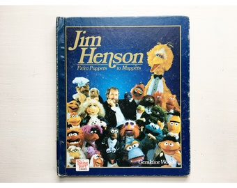 Vintage 80s Jim Henson: From Puppets to Muppets Hardback Young Readers Book