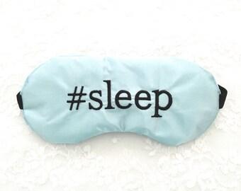 Custom HASHTAG adjustable sleep mask • Bridal shower favor • Bridesmaids gift • Personalized sleep mask • Bridesmaid eye mask • Future Mrs