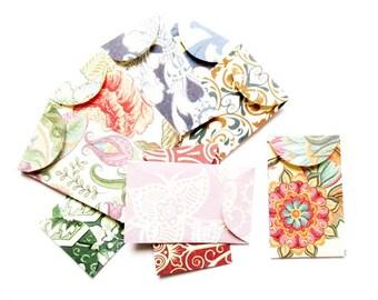 lot 10 mini envelopes 4 x 2, 5cm Z33 patterns