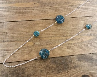Deep Turquoise Asymmetrical Necklace