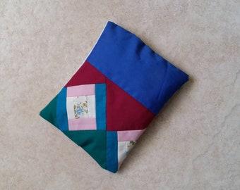 Patchwork Quilt Real Lavender Filled Sachet Dark Blue Red Pink Green Handmade